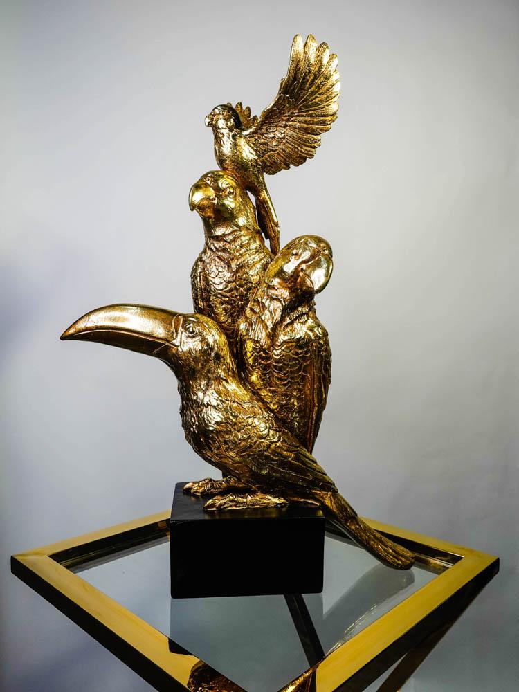 Golden Birds Ornament
