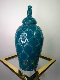 Jar Ceramic Petrol 22,8 x 47 cm