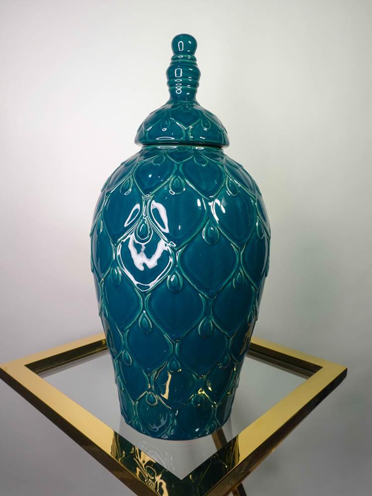 Jar Ceramic Petrol
